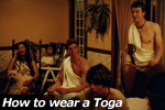 How to wear a Toga